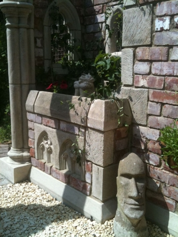 Garden Folly / Building / Double Weathered Wall Capping Stones ...